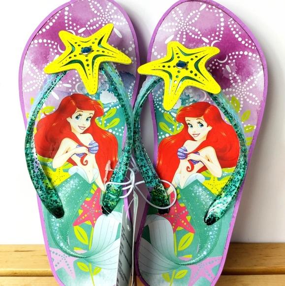 0bb96b3c551 Disney s Little Mermaid Princess Ariel Flip Flops